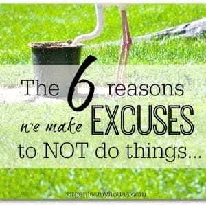 The 6 reasons why we make excuses - procrastination