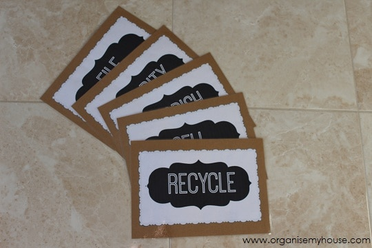 Decluttering Category Cards via www.organisemyhouse.com