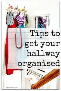 Tips to get your hallway organised - use these 14 tips to get started today