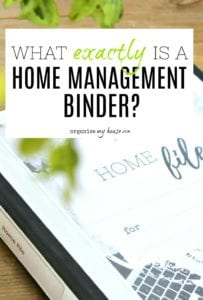 Everything you need to know about a Home Management Binder all in one place. Household Planner / Family Notebook - whatever you call it, you can find out exactly what it is right here. #homemanagementbinder #householdplanner #familynotebook