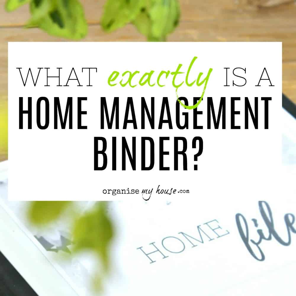 What is a home management binder? Household planner / family notebook