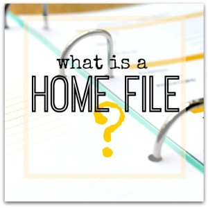 What is a Home File?