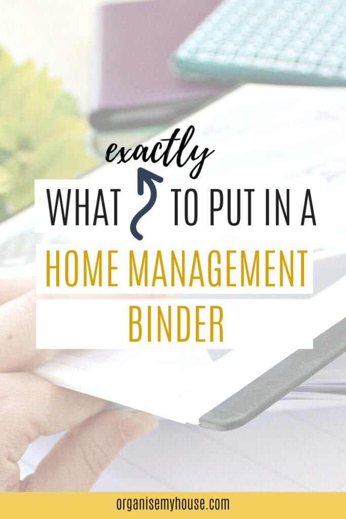 What to put in a Home Management Binder