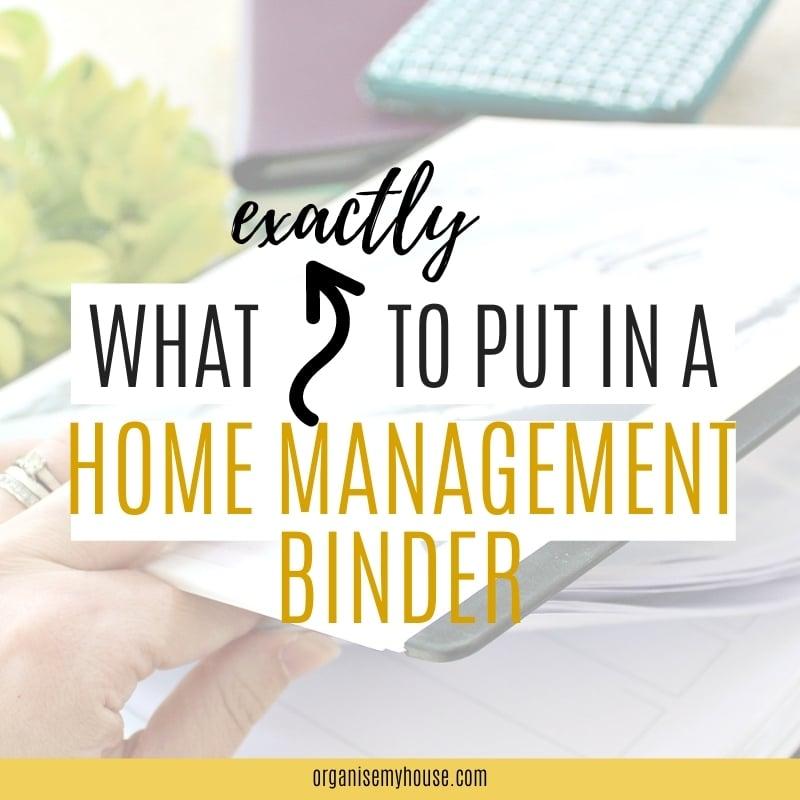 Home Management Binder
