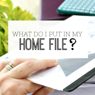 Home file contents / Home Management Binder contents