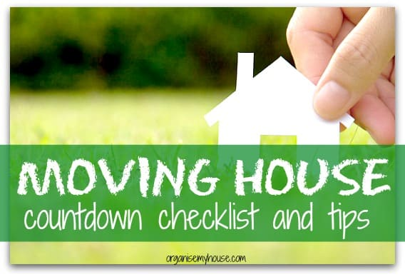 moving house tips countdown checklist