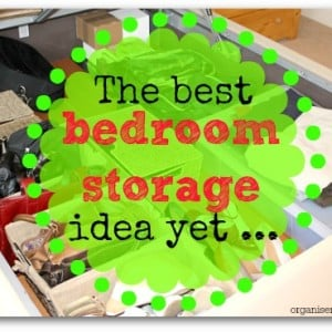 The best bedroom storage idea yet - find out what it is at organisemyhouse.com