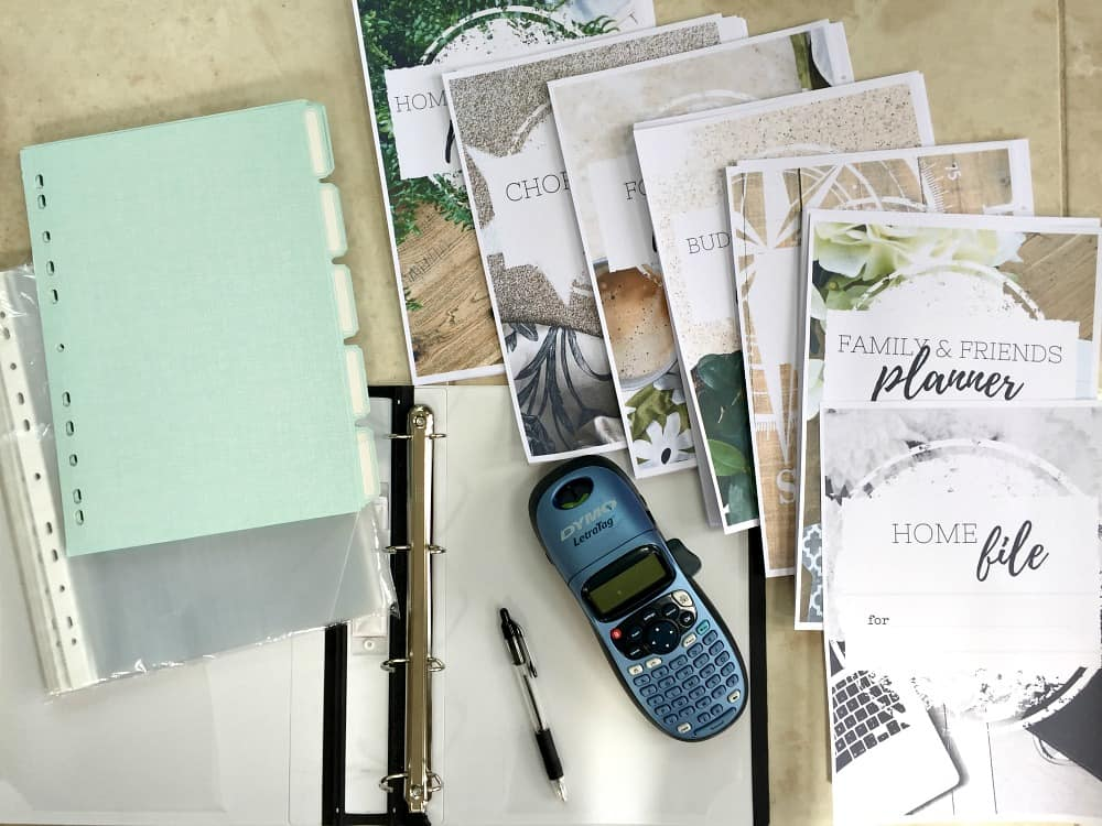 Home management binder - whats needed to create a home management binder for yourself at home