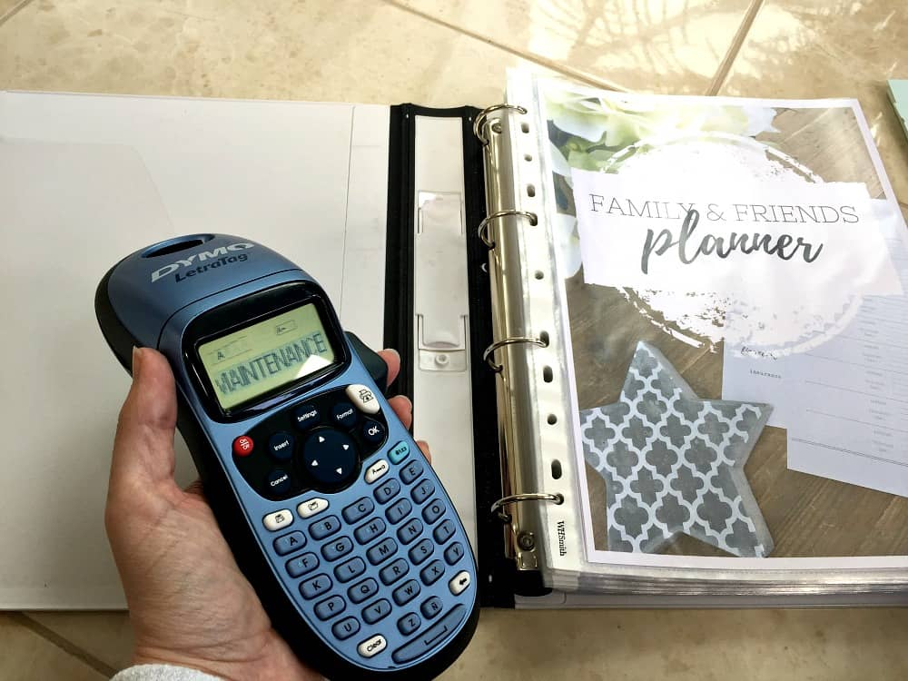 Using a label maker for your home file