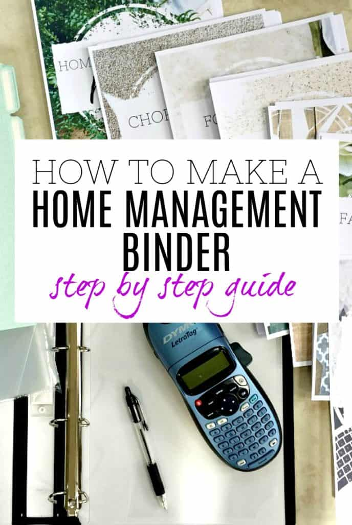 Items that you need for creating a home management binder
