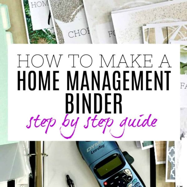 How to make a home management binder - step by step easy to follow guide