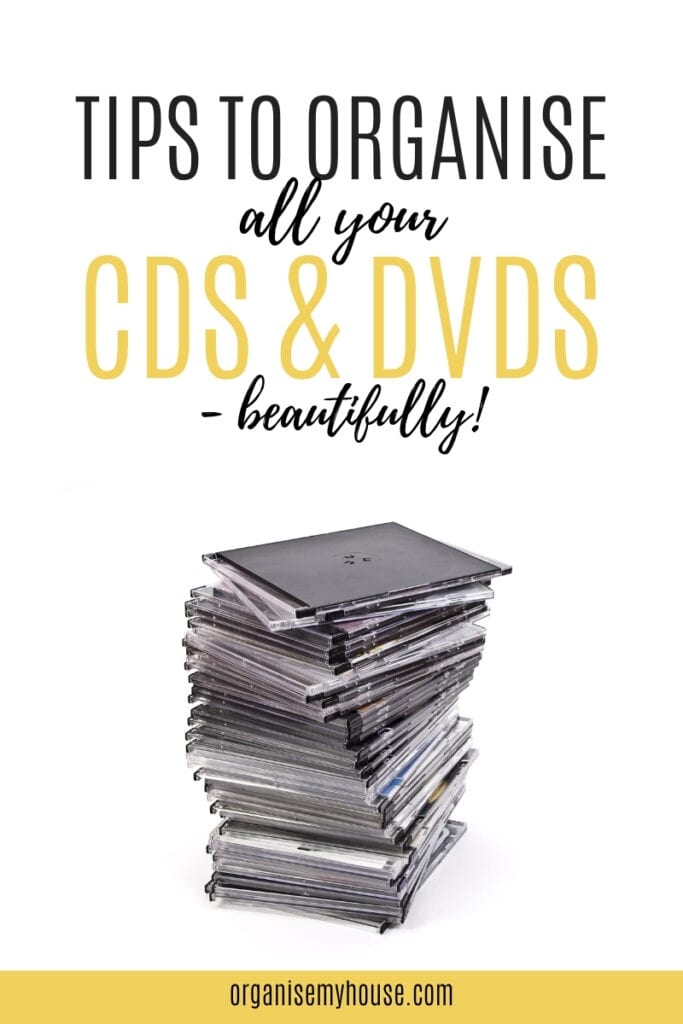 CD and DVD organising made easy - quick tips that make a huge difference