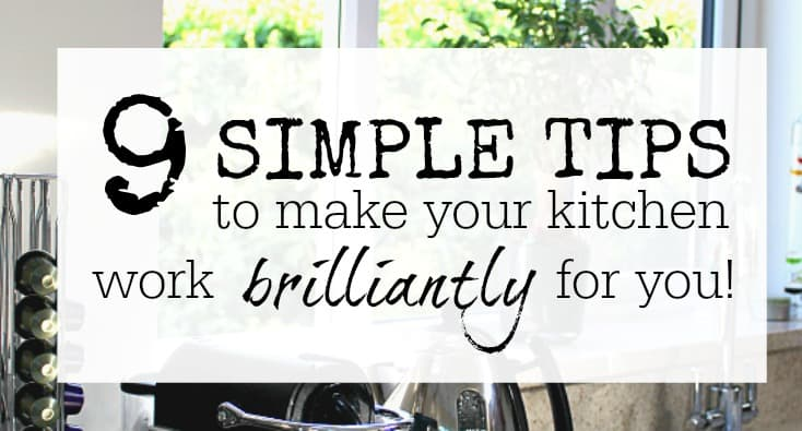 Simple tips to organise your kitchen