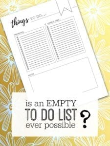 Is there any such thing as an empty TO DO list, and is it even possible? Productivity tips and inspiration to take back control - incl. a free printable TO DO list at the end as well