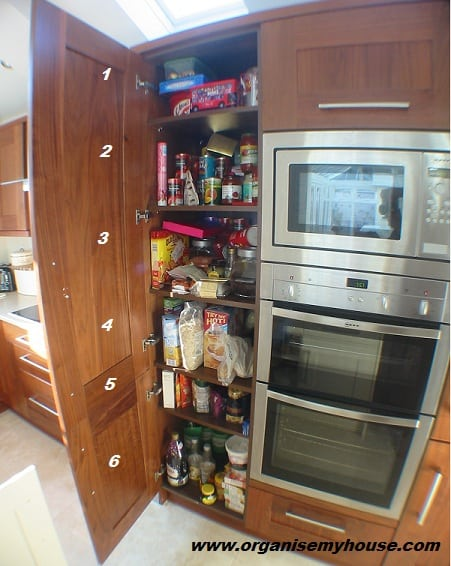 And After How I Organised My Food Cupboard Organise My House