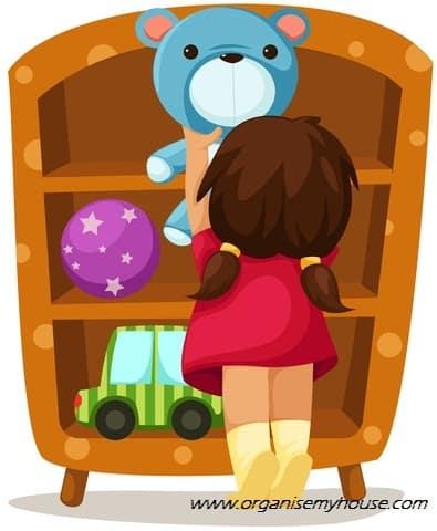 Zones for childrens toys organising