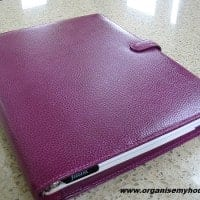 Filofax review - Finsbury Raspberry A4