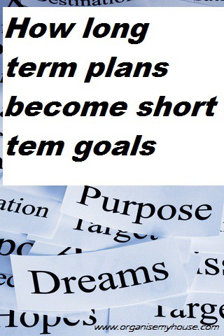 how long term plans become short term goals