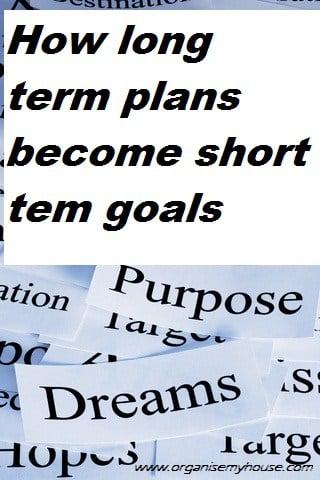 how long term plans become short term goals