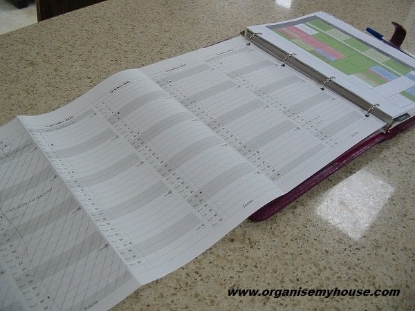 3. Fold out year planner