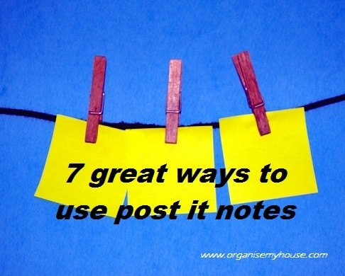 7 great ways to use post it notes