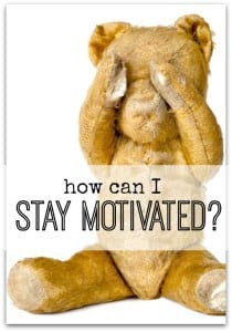 Ways to stay motivated when you are in the middle of a task and feeling drained and overwhelmed. Find what works for you and get more done!