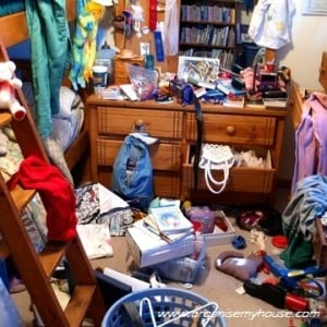What is clutter? Messy Bedroom Picture