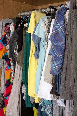 messy cluttered wardrobe