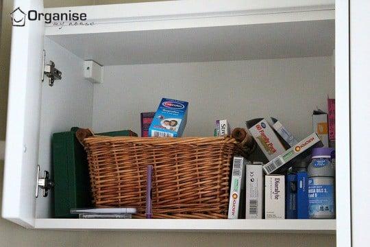 Medicine Cupboard I was using before organising - via organisemyhouse.com
