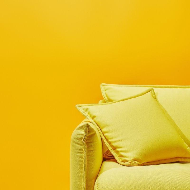 Yellow Sofa on Yellow Background
