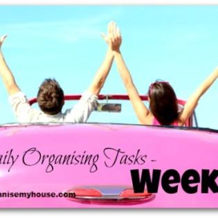 Daily Organising Tasks - Week 2