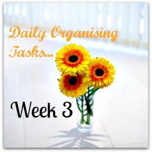 Daily Organising Tasks Week 3