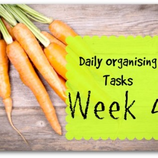 Daily Tasks for organising your home - week 4