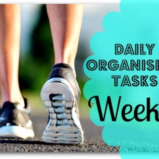 Daily Tasks for organising the home - week 5
