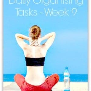 Daily organising tasks - week 9 - from organisemyhouse.com