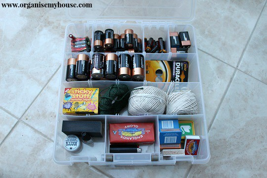 small stuff to store in the boxes  in the utility - via www.organisemyhouse.com