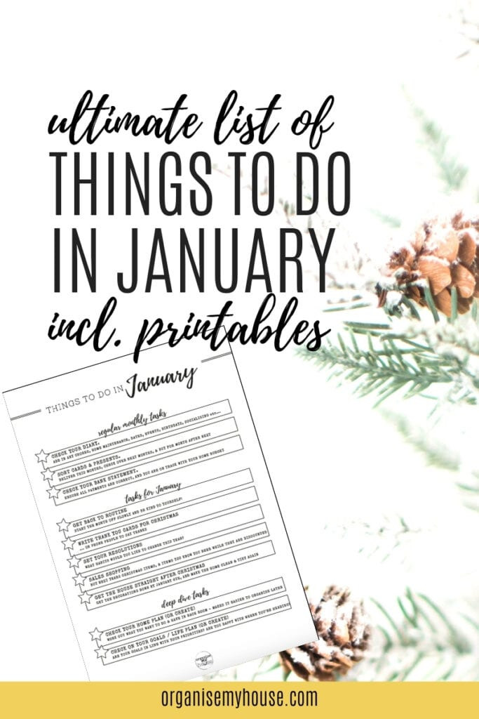 The Ultimate List Of Things To Do In January For Your Home & Life