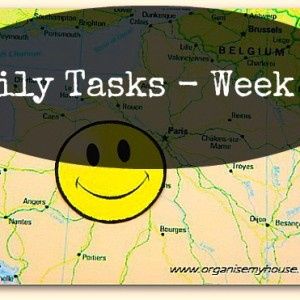 Daily Tasks week 12 from organise my house.com