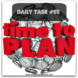 Daily task 55 from organise My house - planning 5 years ahead - get your priorities straight and ensure you are heading in the right direction