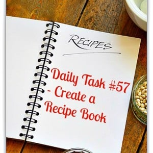 Daily task 57 from organisemyhouse.com - set up a recipe file in your home