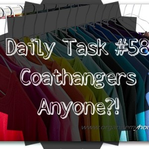sort out your coathangers - daily task from www.organisemyhouse.com