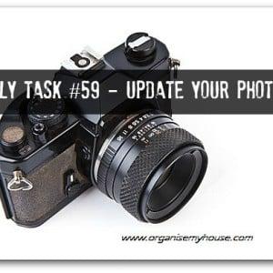 Update photos around your home - daily task via www.organisemyhouse.com