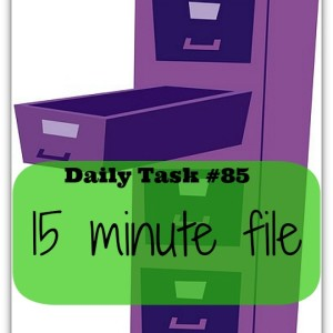 15 minute filing - part of the 100 daily tasks series from organisemyhouse.com