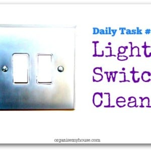 light switch clean - a daily task from organisemyhouse.com