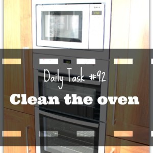 daily task 92 clean the oven