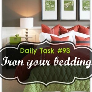 Daily task series  #93 - Iron your bedding