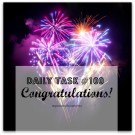 100 tasks done - well done on completing the daily tasks challenge from organisemyhouse.com