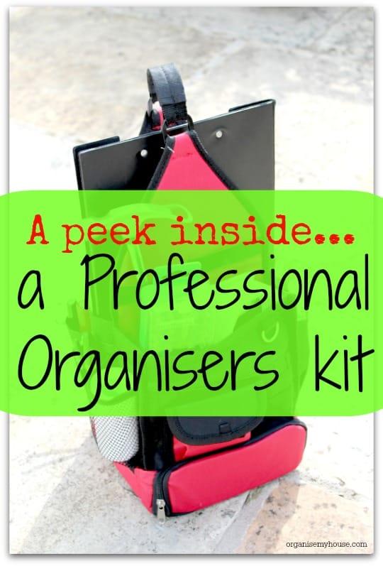 A peek inside the kit of a professional organiser…