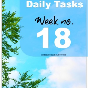 Weekly tasks #18 from organisemyhouse.com
