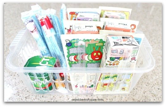 Removing products from boxes makes them more organised and easy to access
